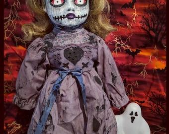 Ooak creepy doll, Art doll
