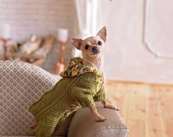 Cihuahua sweater Dress chihuahua Chihuahua clothes Chihuahua clothes girl  Chihuahua costume clothes Christmas dog clothes Knit dog clothes