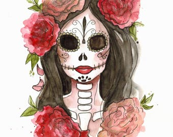 La Muerte (original watercolor)