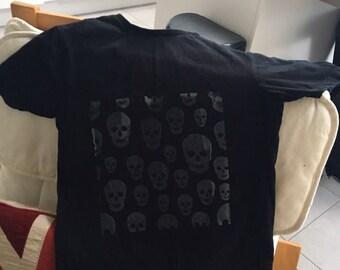 Skull's t-shirt- screen printed - handmade to order