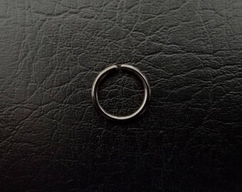 "20g 18g 16g 3/8"" (10mm) Black Seamless or hinged Seamless Septum Daith Helix Nipple Cartilage Ring Lip ring Nose Ring Titanium IP Steel"