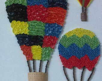 Quilled Hot Air Balloons
