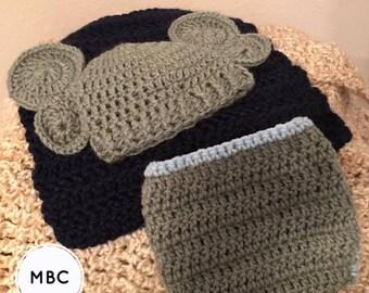 Crochet elephant photo prop