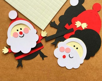 Fabulous Santa Father Christmas Craft Topper Kit x 10  -  Craft Project Christmas Card Making, Scrapbooking