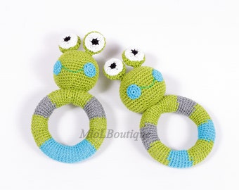 Baby rattle Baby toy Grasping Teething Toys Frog Stuffed toys Gift for baby Girls Boys