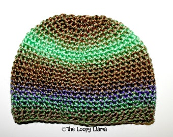 OOAK, RTS Kaleidoscope Hat, Ready To Ship, Winter Beanie Hat, Small Child Size, Christmas, Birthday, Present, Gift, Cool