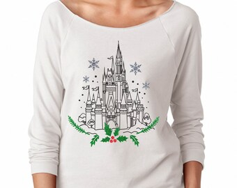 Magical Castle Shirt - Magical Glitter Shirt - Christmas Glitter Shirt