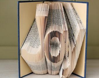 """Folded Book Art - """"Joy"""" - Hardcover Book"""