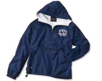 Half Zip Personalized Monogrammed Rain Jacket | Multiple Colors