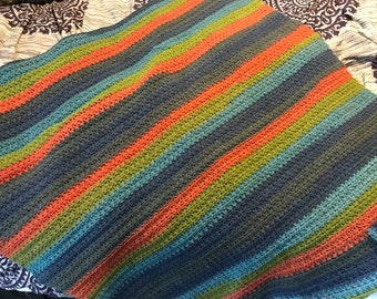 Colorful baby blanket or throw