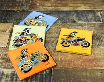 Ceramic Coaster Set | Muerte Rider