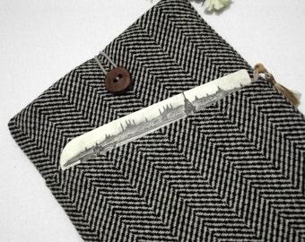wool herringbone 17 inch laptop sleeve, laptop case 17 inch, laptop bag, 17 inch laptop case,17, 17 inch macbook pro case