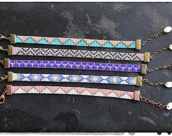 Woven beaded bracelet - model choice