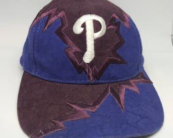 VTG Drew Pearson Jagged Edge Philadelphia Phillies Snapback hat