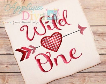 Valentine's Day Wild One Digital Embroidery Design Machine Applique