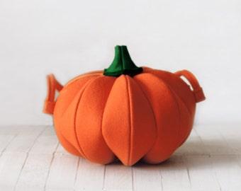 Pumpkin bag Orange Felt Bag