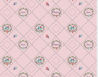 Country Girls Lazy Day in Pink by Tasha Noel for Riley Blake Cotton Fabric - 1 Yard