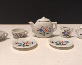 Vintage Miniature Porcelain Tea Set made in Japan