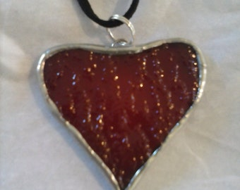 Stained Glass Heart Pendant