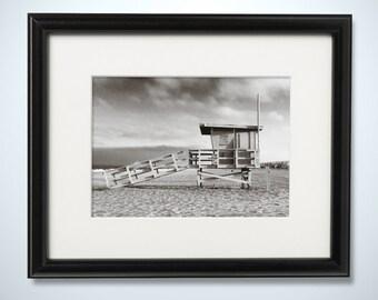 Manhattan Beach California Lifeguard Tower Photography Print