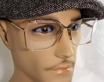 Vintage Eyeglass Frame, Safilo, Gold