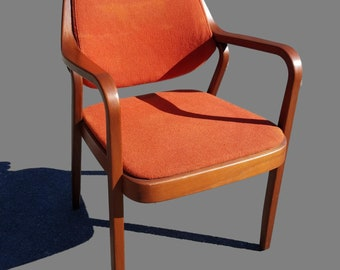 Vintage Mid-Century Don Pettit for Knoll Bent Wood Armchair