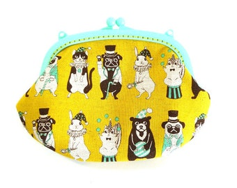 Animal circus, Plastics frame purse, kiss lock purse