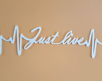 wall glass synthetic (acrylic) 3 mm. ECG theme - pattern: just live