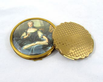 Vintage English Powder Compacts - Stratton and Flair of London - ca 1950s-60s
