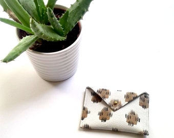 Aida - Printed Leather Wallet / Card Holder