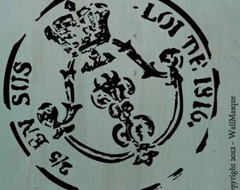 """Old Stamp Stencil - 7"""" x 7"""""""