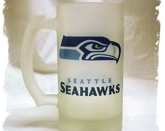 Seattle Seahawks Frosted 16 ounce Beer Mug