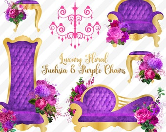 Purple Throne Chair Etsy