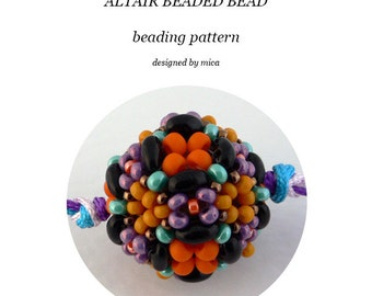 Altair Beaded Bead pattern/tutorial - pdf file for personal use only