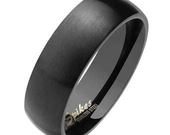 Matte black ring Etsy