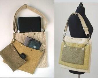 carry on tote bag , womens messenger bag ,laptop messenger bag ,fabric handbag ,crossbody purse, over the shoulder bag