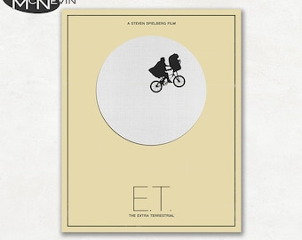E.T. THE EXTRA TERRESTRIAL Minimalist Movie Poster, Fine Art Print