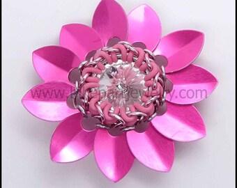 Original Chainmaille Rivoli Flower Tutorial