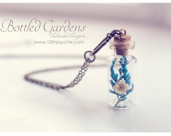 Mother gift for women, Dried flower vial Necklace,terrarium necklace,Bottle Pendant,Real Flower bottle necklace,botanical jewelry,