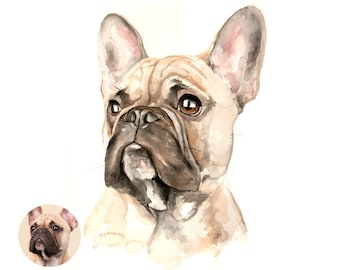 Dog portrait custom, pet loss gift custom pet art, pet illustration, pet gift, pet custom drawing, portrait pet, pet lover, watercolor pet