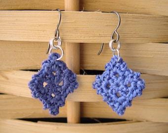 Crocheted earrings purple