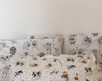 Pillow case   Pillow cover   Kids Bedding   Snoopy   Monsters   SHIPPING INCLUDED