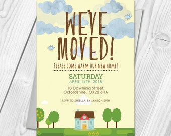 Personalised House Warming Invitation and Thank You Cards | House Warming Invites and Thank You Cards