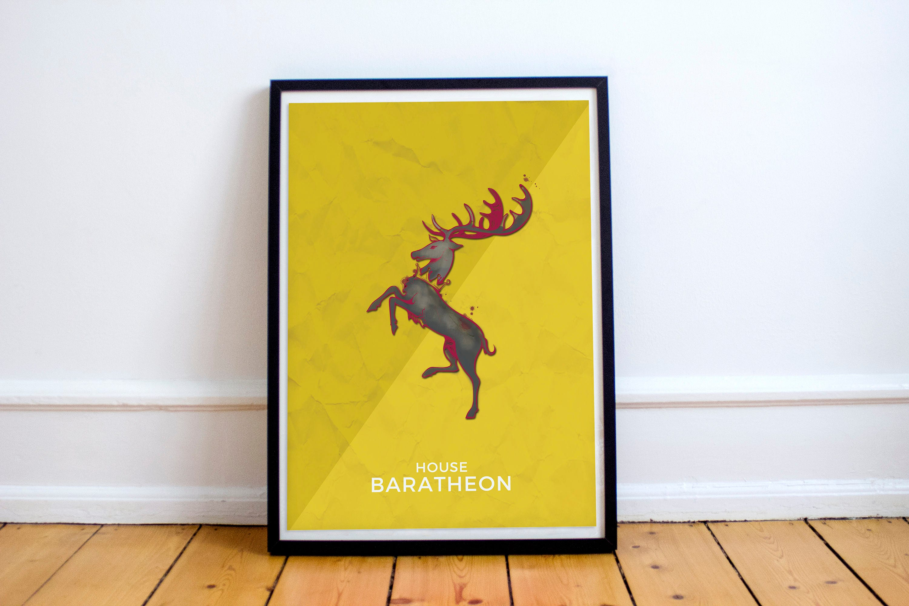 Game of Thrones Wall art House Baratheon poster. Inspired art