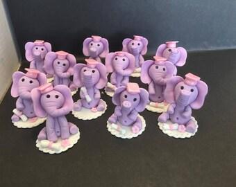 Elephant edible cupcake toppers