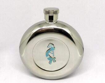Kokopelli Flask – Turquoise