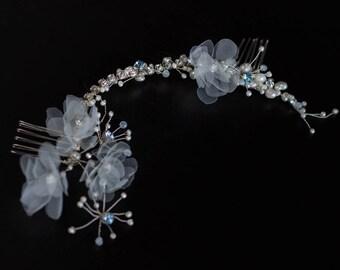 Bridal Hair vine, Wedding hair vine comb, Bridal hair piece, Wedding hair piece, Pearl vine, Pearl Bridal hair comb, Bridal hair accessories