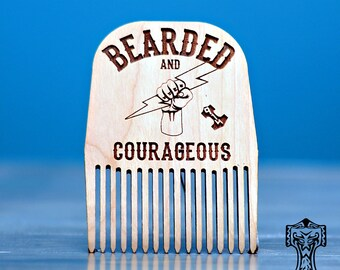 Bearded and Courageous Beard Comb