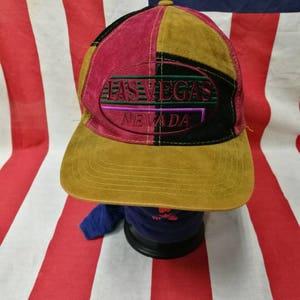 vintage LAS VEGAS NEVADA block colour very nice design snapback cap hat rayon 100%