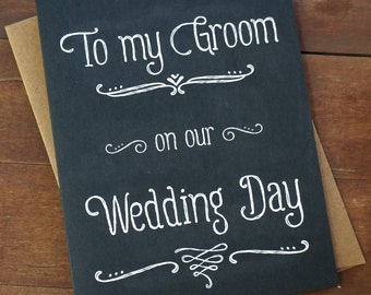 Groom gift idea etsy groom gift from bride to groom card to my groom on our wedding day card groom negle Choice Image